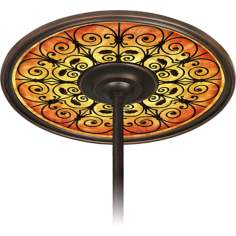 "Madrid Spice 6 1/2"" Opening Bronze Ceiling Fan Medallion"
