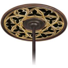 "Gothic Arch 6 1/2"" Opening Bronze Ceiling Fan Medallion"