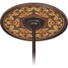 "Acanthus Noble Bronze 6 1/2"" Opening Ceiling Fan Medallion"