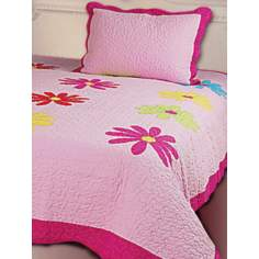 Kathy Ireland Daisy Crazy Quilt Bedding Set