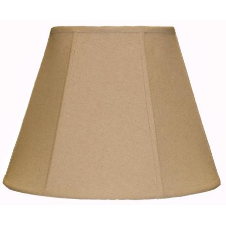 Tan Softback Lamp Shade 9x16x12 (Spider)