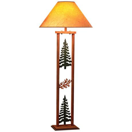Cedar Ridge Pine Tree and Cedar Rectangular Floor Lamp