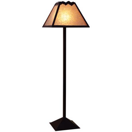 Mountain with Mica Shade Floor Lamp