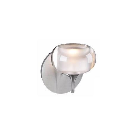 "Contour Frosted Glass 6"" High Halogen Wall Sconce"