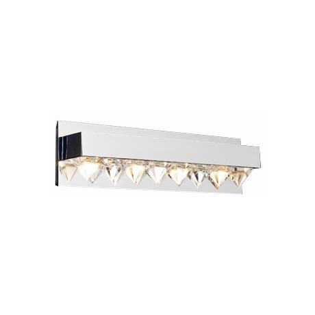 "Crystal Row 18"" Wide ADA Bathroom Light Fixture"