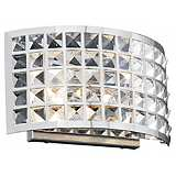 "Deco Crystal and Chrome 12"" Wide Bathroom Light Fixture"