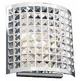 "Deco Crystal and Chrome 12"" High Wall Sconce"