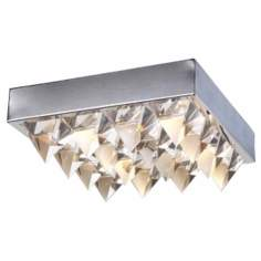 "Crystal Row 14"" Wide Ceiling Light Fixture"