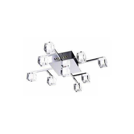 "Glass Cube 24"" Wide 9-Light Ceiling Light Fixture"