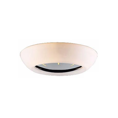 "Opal Glass and Chrome 18"" Wide Ceiling Light Fixture"