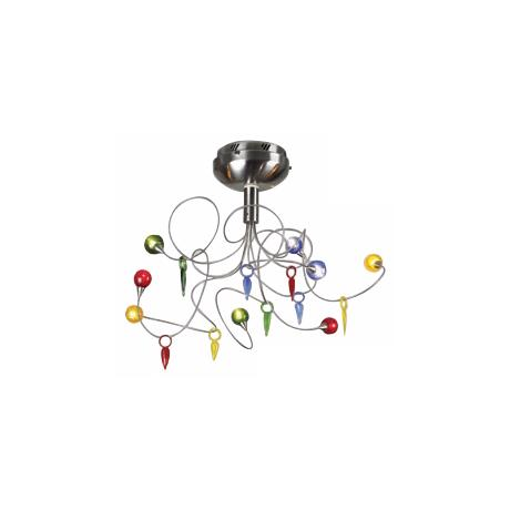 "Colorful Contemporary 21"" Wide Ceiling Light Fixture"