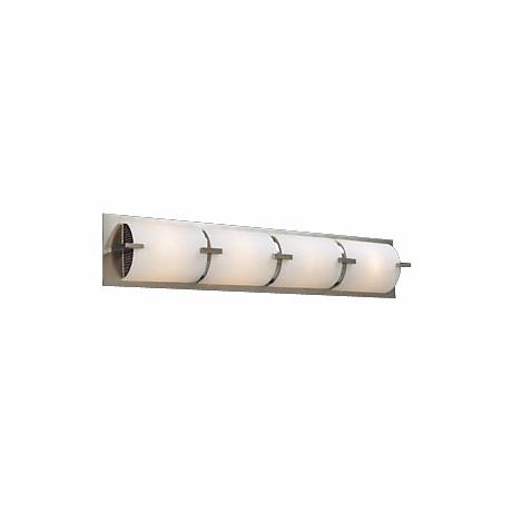 "Opal Glass Curve 32"" Wide ADA Bathroom Light Fixture"