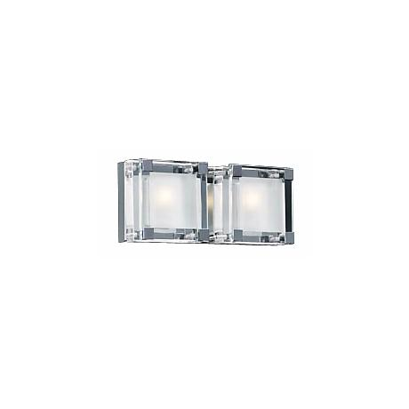 "Nice Cube Frosted Glass 12"" Wide ADA Bathroom Light"