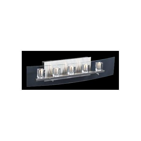 "Clear Glass Cubes 24"" Wide Bathroom Light Fixture"