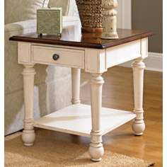 Promenade Antique Rectangular Drawer End Table