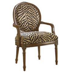 Hidden Treasures Zebra Accent Chair