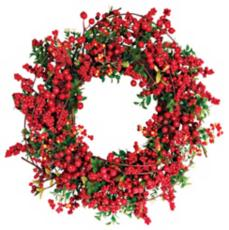Red Berry Christmas Wreath Photo