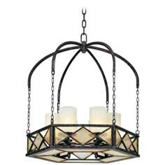 "Harlequin Collection 27"" Wide 6-Light Chandelier"