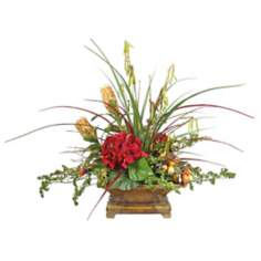 Himalayan Grass and Protea Faux Floral Arrangement