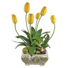 Pears and Tulips Faux Floral Arrangement