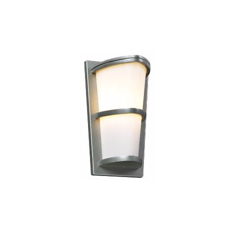 "Allegra Silver 13 1/4"" High Outdoor Wall Light"