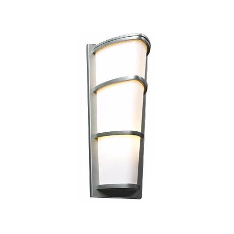 "Allegra Satin Nickel 22"" High Outdoor Wall Light"