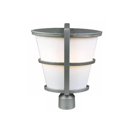 "Allegra Silver 16"" High Outdoor Post Light"