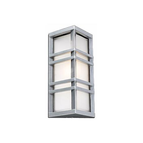 "Trestle Architectural Silver 13 1/4"" High Outdoor Wall Light"