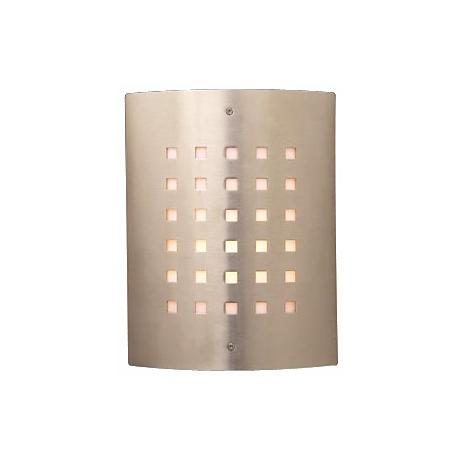 "Deco Checker Pattern 11 3/4"" High Outdoor Wall Light"