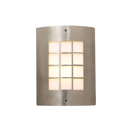 "Deco Grid Pattern 11 3/4"" High Outdoor Wall Light"