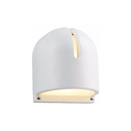 "White Finish 9"" High Outdoor Wall Light"