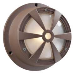 "Bullseye Architectural Bronze 7 1/2"" High Outdoor Wall Light"