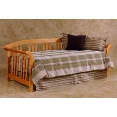 Country Pine Finish Slat Spindle Sleigh Daybed