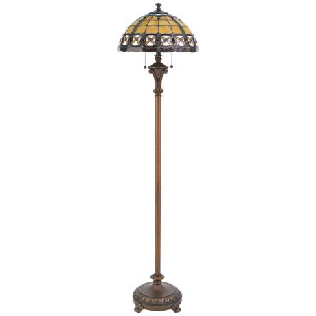 Lite Source Polare Bronze Tiffany Style Floor Lamp
