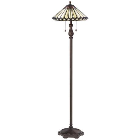 Lite Source Greely Bronze Tiffany Style Floor Lamp