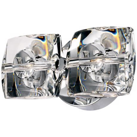 ET2 Neo Collection Chrome Crystal 2-Light Wall Sconce