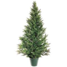 "Faux 48"" High Cedar Pine Topiary"