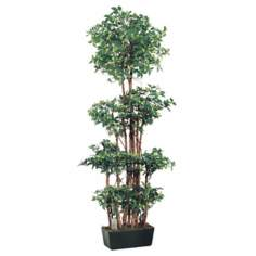 "Faux 72"" High Ficus Wall Tree"