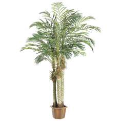 "Faux 84"" High Robellini Palm Trees"