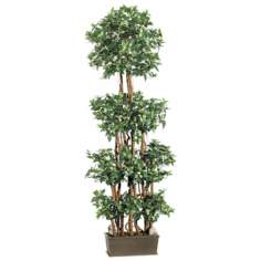 "Faux 72"" High Mini Ficus Wall Tree"