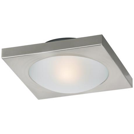 "Piccolo Nickel Square 7 1/2"" Wide Ceiling Light"
