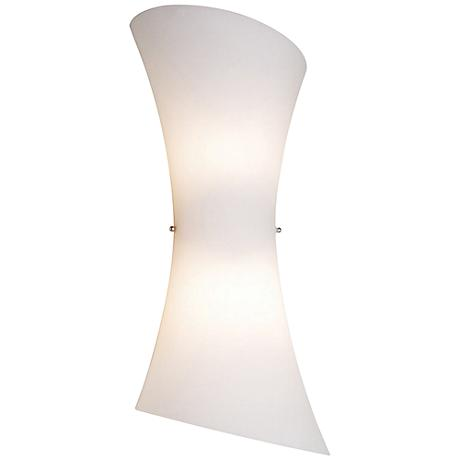 "Conico Collection 20"" High Frost White 2-Light Wall Sconce"