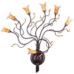 "Evolution Bronze 28"" High 7-Light Wall Sconce"