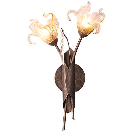 "Bloom Collection 16"" High 2-Light Wall Sconce"