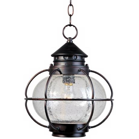 "Nautington 14"" High Outdoor Hanging Lantern"
