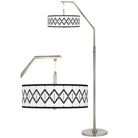 Paved Desert Giclee Shade Arc Floor Lamp