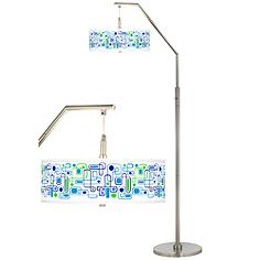Racktrack Giclee Shade Arc Floor Lamp