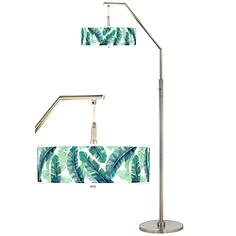 Guinea Giclee Shade Arc Floor Lamp