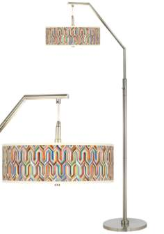 Synthesis Giclee Shade Arc Floor Lamp