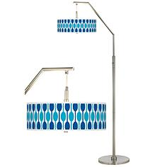 Jet Set Giclee Shade Arc Floor Lamp